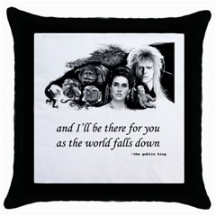 Labyrinth Black Throw Pillow Case by GlamourG33k