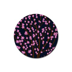 Japanese Tree  Rubber Coaster (round)  by Valentinaart