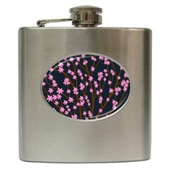 Japanese tree  Hip Flask (6 oz) by Valentinaart
