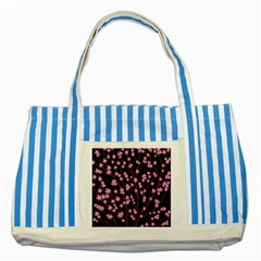 Japanese Tree  Striped Blue Tote Bag by Valentinaart