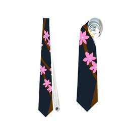 Japanese Tree  Neckties (one Side)  by Valentinaart