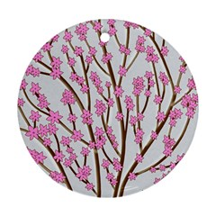 Cherry tree Round Ornament (Two Sides)