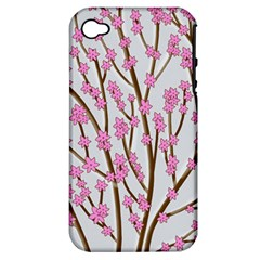 Cherry Tree Apple Iphone 4/4s Hardshell Case (pc+silicone) by Valentinaart
