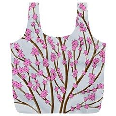 Cherry Tree Full Print Recycle Bags (l)  by Valentinaart