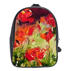 Abstact Poppys Art Print School Bags (xl)  by artistpixi