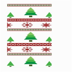 Christmas Trees And Snowflakes Large Garden Flag (Two Sides) by artpics