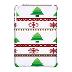 Christmas Trees And Snowflakes Apple iPad Mini Hardshell Case (Compatible with Smart Cover) by artpics