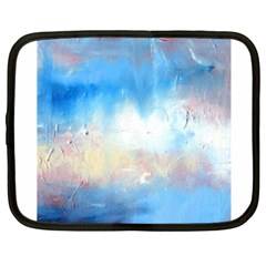 Abstract Blue And White Art Print Netbook Case (xxl)  by artistpixi