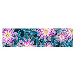 Whimsical Garden Satin Scarf (oblong)