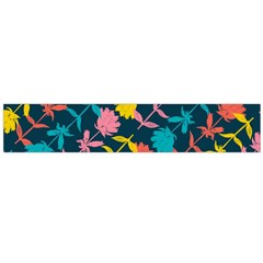 Colorful Floral Pattern Flano Scarf (Large)