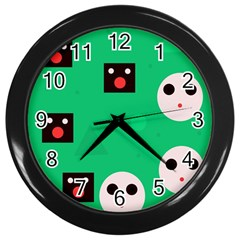 Audience  Wall Clocks (black) by Valentinaart