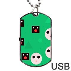 Audience  Dog Tag USB Flash (One Side) by Valentinaart