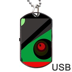 Billiard  Dog Tag Usb Flash (one Side) by Valentinaart