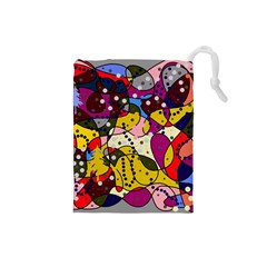 New Year Drawstring Pouches (small)  by Valentinaart