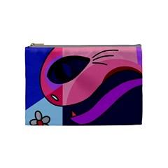 Strange Love Cosmetic Bag (medium)  by Valentinaart