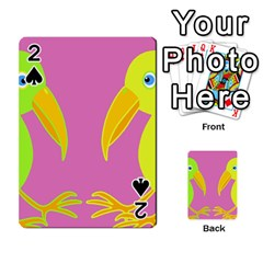 Parrots Playing Cards 54 Designs  by Valentinaart