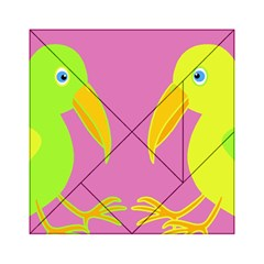 Parrots Acrylic Tangram Puzzle (6  X 6 ) by Valentinaart