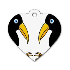 Ravens Dog Tag Heart (one Side) by Valentinaart