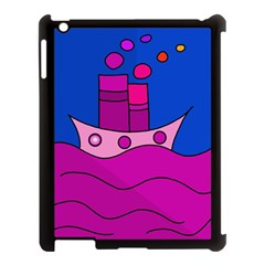 Boat Apple Ipad 3/4 Case (black) by Valentinaart