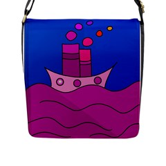 Boat Flap Messenger Bag (l)  by Valentinaart