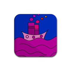 Boat Rubber Square Coaster (4 Pack)  by Valentinaart
