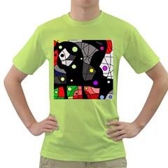 Optimistic Decor Green T Shirt by Valentinaart