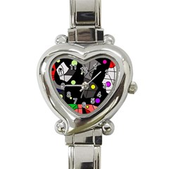Optimistic Decor Heart Italian Charm Watch by Valentinaart