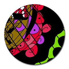 Elegant Abstract Decor Round Mousepads by Valentinaart