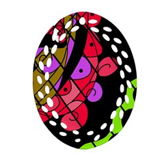 Elegant Abstract Decor Oval Filigree Ornament (2 Side)  by Valentinaart