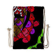 Elegant Abstract Decor Drawstring Bag (small) by Valentinaart