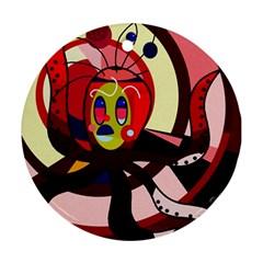 Octopus Ornament (round)  by Valentinaart