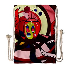Octopus Drawstring Bag (large) by Valentinaart