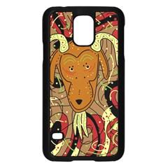 Billy Goat Samsung Galaxy S5 Case (black) by Valentinaart