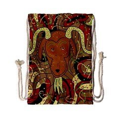 Billy Goat Drawstring Bag (small) by Valentinaart