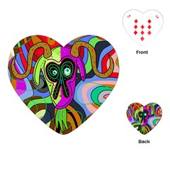 Colorful Goat Playing Cards (heart)  by Valentinaart