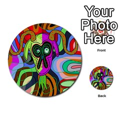 Colorful Goat Multi Purpose Cards (round)  by Valentinaart