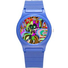 Colorful goat Round Plastic Sport Watch (S)