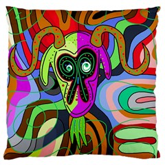 Colorful Goat Standard Flano Cushion Case (one Side) by Valentinaart