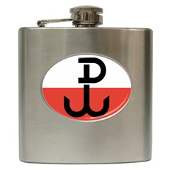 Flag Of The Polish Underground State, 1939 1945 Hip Flask (6 Oz) by abbeyz71