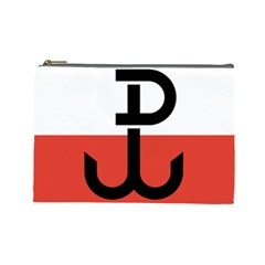 Flag Of The Polish Underground State, 1939 1945 Cosmetic Bag (large)  by abbeyz71