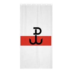 Flag Of The Polish Underground State, 1939 1945 Shower Curtain 36  X 72  (stall)  by abbeyz71