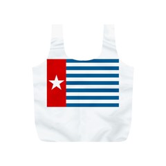 Flag Of Free Papua Movement  Full Print Recycle Bags (s)  by abbeyz71