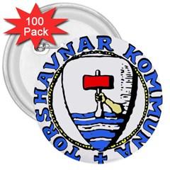Tórshavn Insigna 3  Buttons (100 Pack)  by abbeyz71