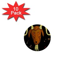 Billy Goat 2 1  Mini Buttons (10 Pack)  by Valentinaart