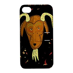 Billy Goat 2 Apple Iphone 4/4s Hardshell Case With Stand by Valentinaart