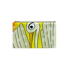 Crane Cosmetic Bag (small)  by Valentinaart