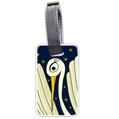 Crane 2 Luggage Tags (two Sides) by Valentinaart