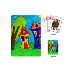 Two Houses  Playing Cards (mini)  by Valentinaart