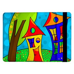Two Houses  Samsung Galaxy Tab Pro 12 2  Flip Case by Valentinaart