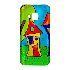 Two houses  HTC One M9 Hardshell Case by Valentinaart